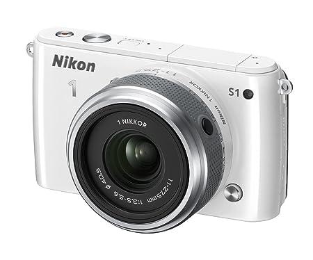 Nikon 1 S1 Appareil photo hybride 10,1 Mpix + Objectif 1 Nikkor 11-27,5 mm Blanc