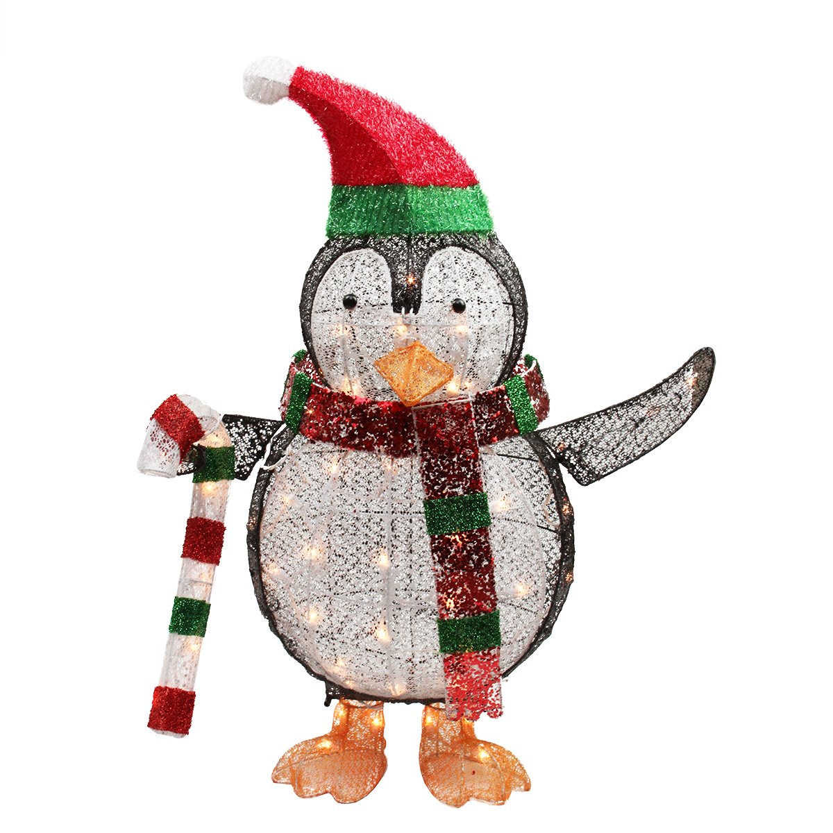 Christmas penguin lighted yard displays christmas wikii for Amazon christmas lawn decorations