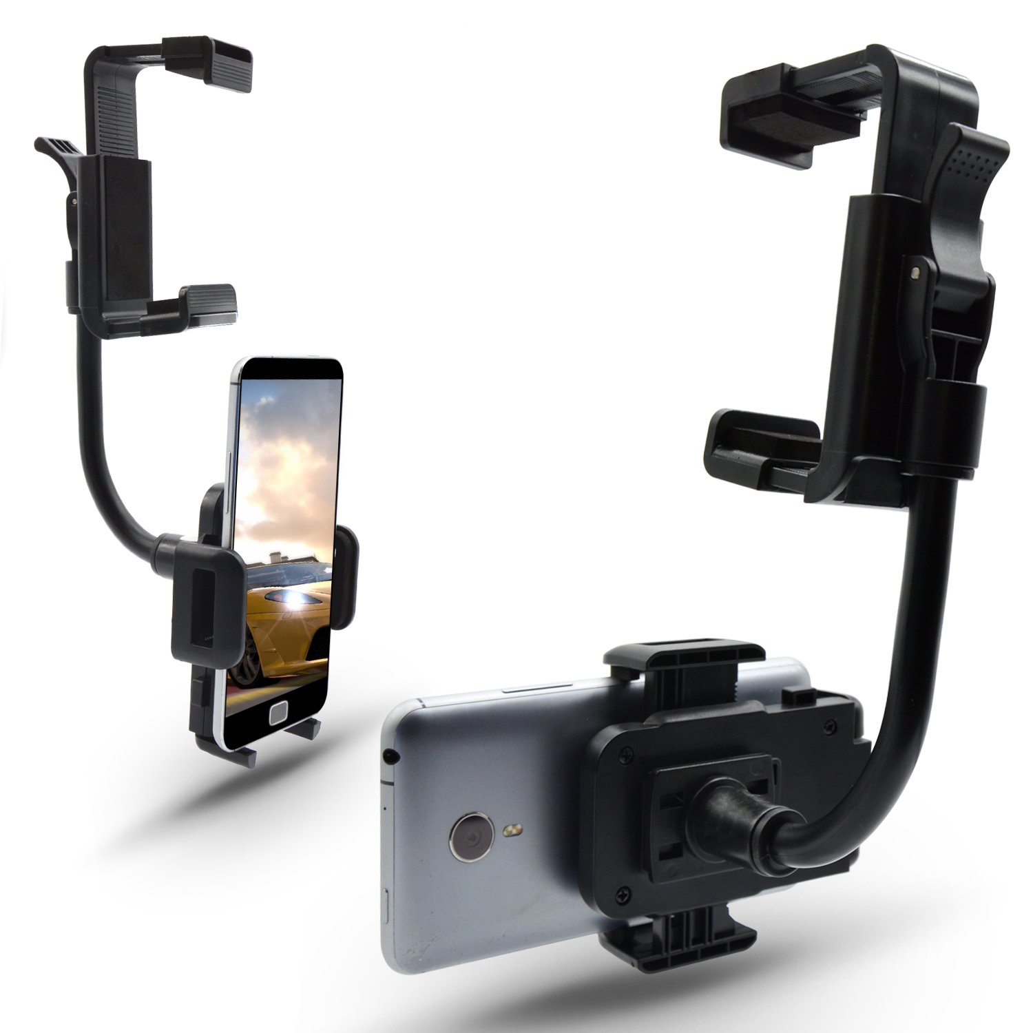 Flexible arm phone mount