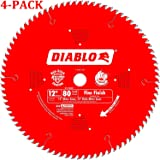 Freud D1280X Diablo 12-Inch 80 Tooth ATB Crosscutting Saw Blade with 1-Inch Arbor (12