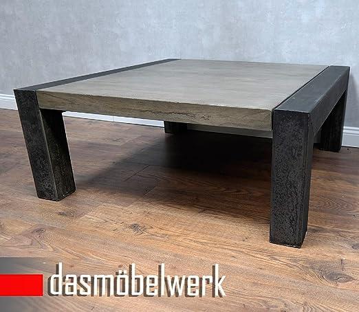 dasmöbelwerk Treibholz Massivholz Recycling Massivholz Metall Industrielook Couchtisch 100 cm 644728