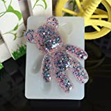 Hacloser Silicone Mould Bear Shape, DIY Transparent Resin Molds Jewelry Making Tool Fondant Cake (Color: White, Tamaño: 2.76