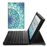 Fintie Keyboard Case for All-New Fire HD 10 (7th Generation, 2017), Slim Lightweight Stand Cover with Detachable Wireless Bluetooth Keyboard for Amazon Fire HD 10.1