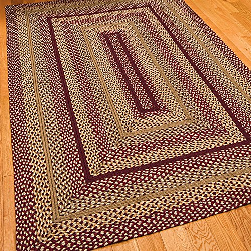 """Braided Rug For Living Room: IHF Home Decor Rectangle Area Accent Floor Carpet 20"""" X 30"""