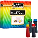 Spice Supreme Assorted Food Colors Red Blue Green Yellow 1.2 Oz (Tamaño: Assorted Food Colors)
