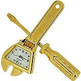 GTP Miniature Goldtone Spanner & Screwdriver Tool Set Collectors Clock IMP1033