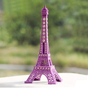 This is on my Wish List: 13cm Colorful Paris Souvenir Craft Eiffel Tower Metal Model Home Decoration Purple, Electronic Toys - nada
