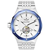 Edox Men's 85024 3BUM AIN Delfin Analog Display Swiss Automatic Silver Watch (Color: silver)