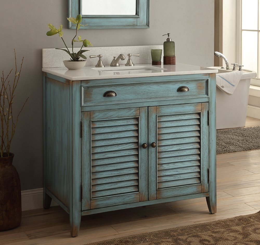 "36"" Cottage look Abbeville Bathroom Sink Vanity Cabinet - Model # CF28884BU 0"