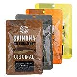 Kaimana Jerky - Ahi Tuna Jerky Variety Bundle 4 pk - Original, Teriyaki, Peppered and Lemon Salt Tuna Jerky flavors. All Natural & Wild Caught Tuna Jerky. Made in USA (Tamaño: 12 ounces)