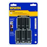 IRWIN Tools IMPACT Performance Series BOLT GRIP Deep Well Bolt Extractors, 3/8-inch Square Drive, 6-Piece Set, Rail Expansion with 1/4-inch Hex to 3/8-inch Square Drive Adapter (1881456) (Tamaño: 6-Piece Expansion Set)