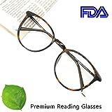 Reading Glasses 1.25 Tortoise, Round Glasses, Eyeglasses Frames for Women, Light Weight Glasses (Color: Tortoise, Tamaño: Medium)