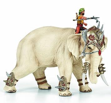 Schleich - 70063 - Figurine - Eléphant de Combat avec Cornac