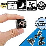 [2018 UPGRADED] Horonzo Mini Hidden Spy Camera - 1080P HD - Motion Detection - Night Vision - Long battery life - Ideal Surveillance Camera, Body Cam, Nanny Cam, Action Camera