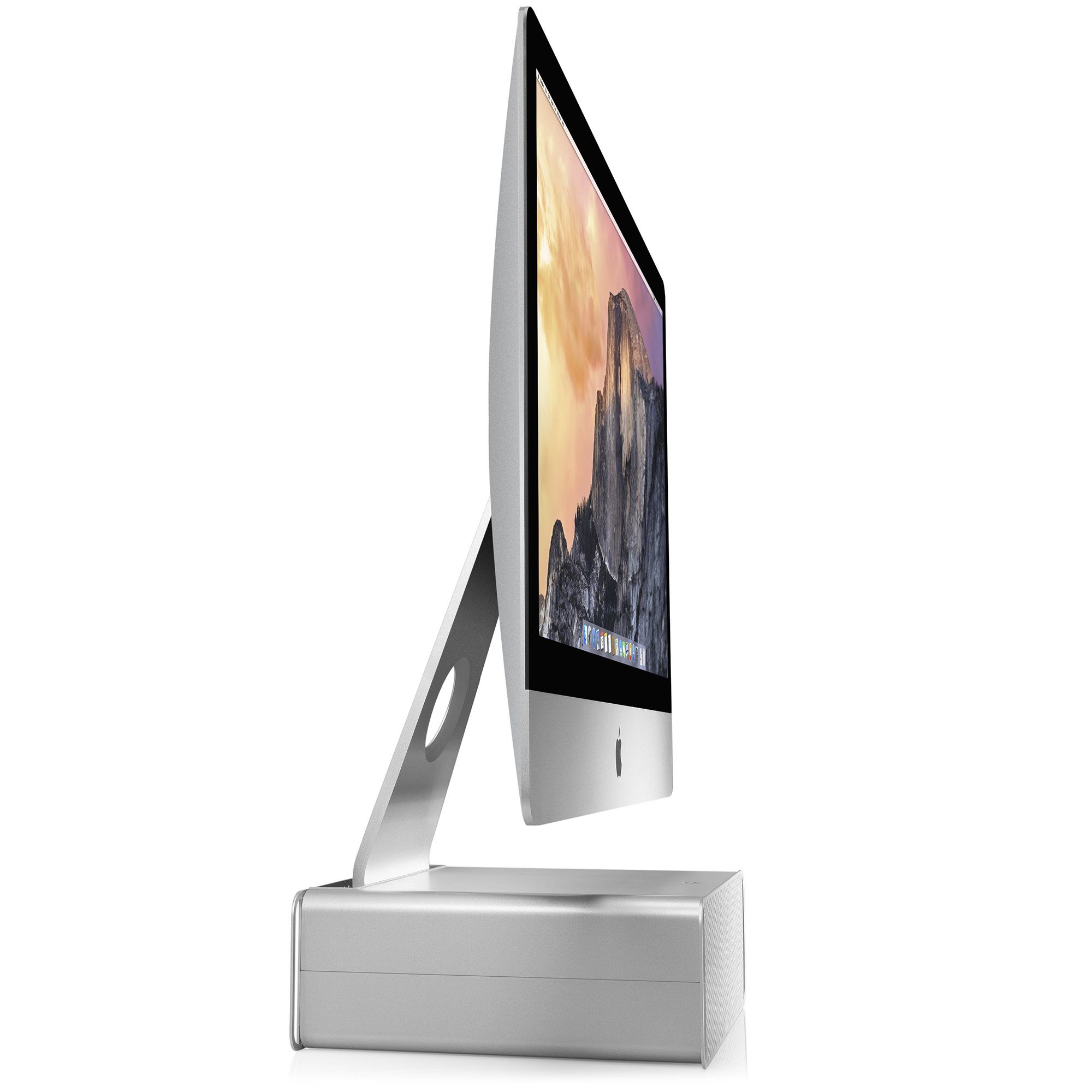 Twelve south hirise for imac height adjustable stand with storage for imac ebay - Computer desk for imac inch ...