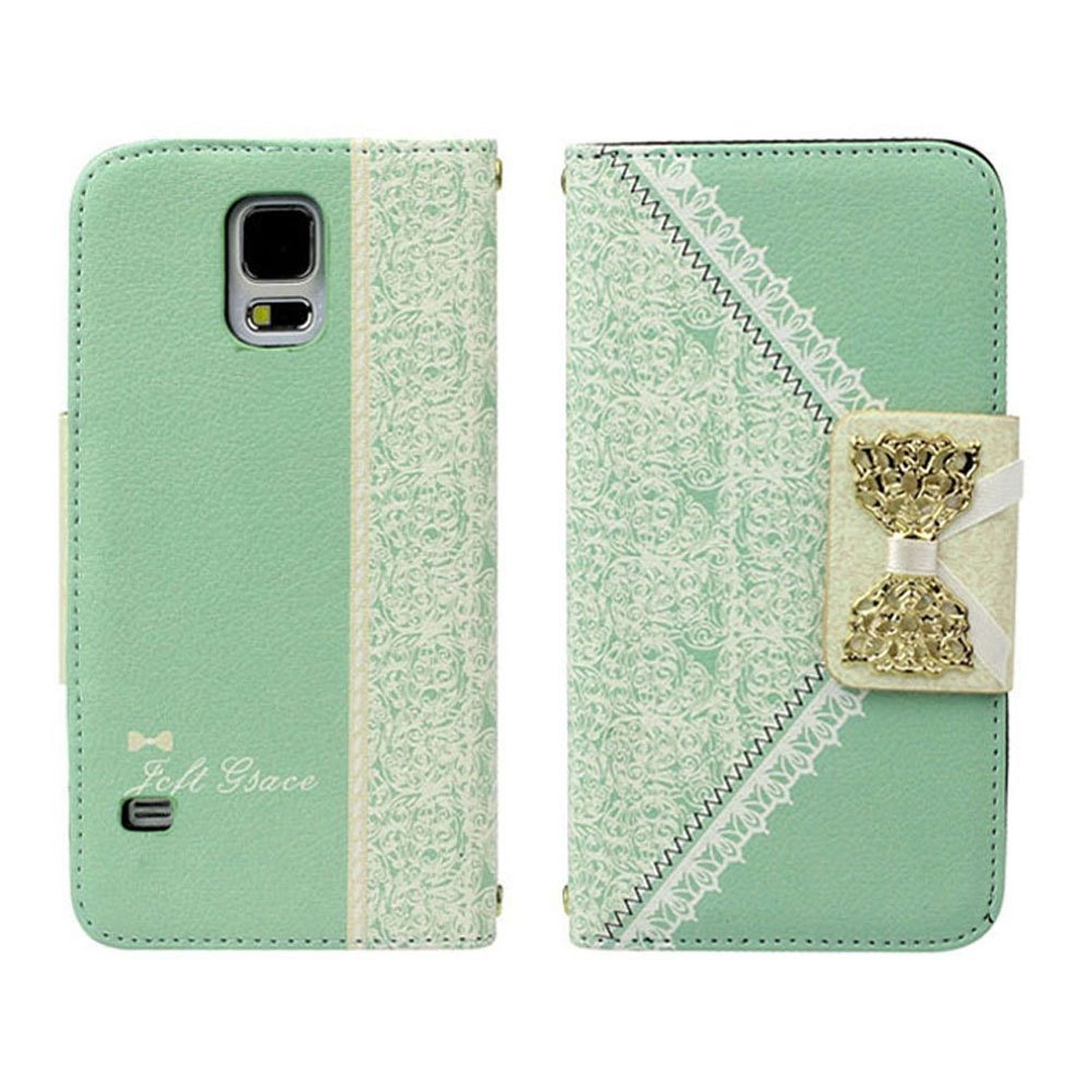 Fresh Cute Flip Wallet Leather Case Cover for Samsung Galaxy S5 I9600 G900