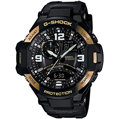 <strong>Casio Men's GA1000-9G G-Shock Gravitymaster Black/Gold Watch</strong>