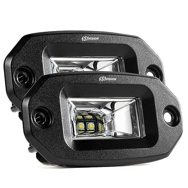 2x 20W Flush Mount Car Off-Road LED Pods Flood Backup Work Light Bar Waterproof
