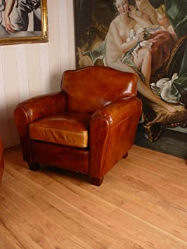 EXCLUSIVE ENGLISH CLUB CHAIR ART DECO LEATHER PALAZZO EXCLUSIVE