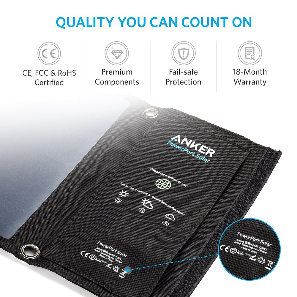 Anker 21w Portable Solar Charger Foldable Solar Panel For