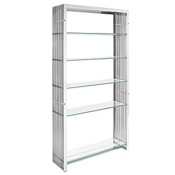 Gridiron Stainless Steel Bookshelf