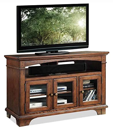 TV Cabinet in Rutledge Burnished Oak Finish
