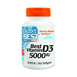 Doctors Best Vitamin D3 5000iu Soft-gels 360-Count