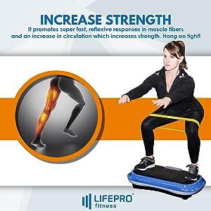 LifePro Vibration Plate Exercise Machine - Whole Body Workout