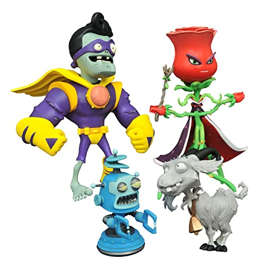 Diamond Select Plants vs. Zombies Rose vs. Captain Brainz