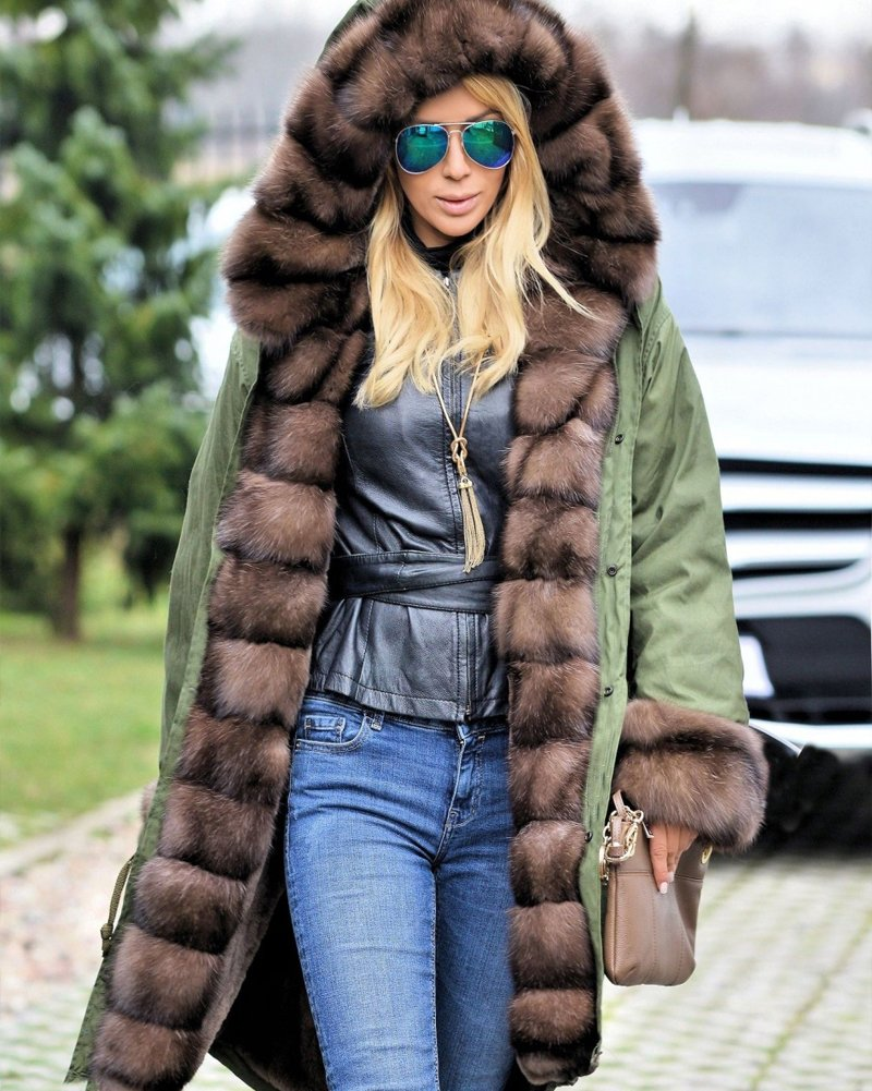 Roiii Ladies Quilted Casual Vintage Faux Fur Collar Warm Thick Womens Jacket Coat 4