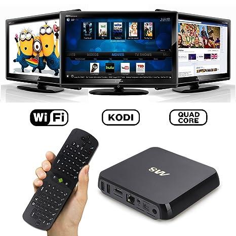 Keedox à S802 4K Smart TV Box Android 4.4 Quad-core 2.0GHz Octa-core GPU 1080P HDMI 1.4 WiFi Bluetooth 8Go-Flash--XBMC Youtube Avec Measy RC11 Air Fly Mouse souris et clavier sans fil