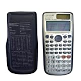 Double Lines Two-Way Solar Power Supply Large Display Superior Powerful Mathmatic Engineering Scientific Calculators (Bright White) (Color: Bright white, Tamaño: fx-991es plus)
