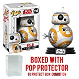 Funko Pop! Star Wars: The Last Jedi - BB-8 #196 Vinyl Figure (Bundled with Pop BOX PROTECTOR CASE) (Tamaño: 3.75 inches)