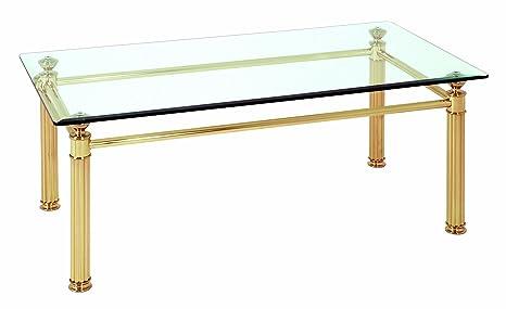 HAKU Möbel 47252 Couchtisch 110 x 60 x 43 cm, vergoldet