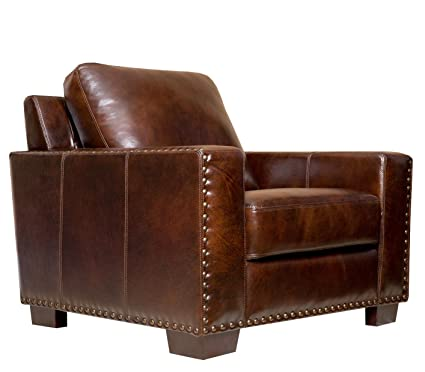 Abbyson Living Beverly Hand Rubbed Leather Armchair