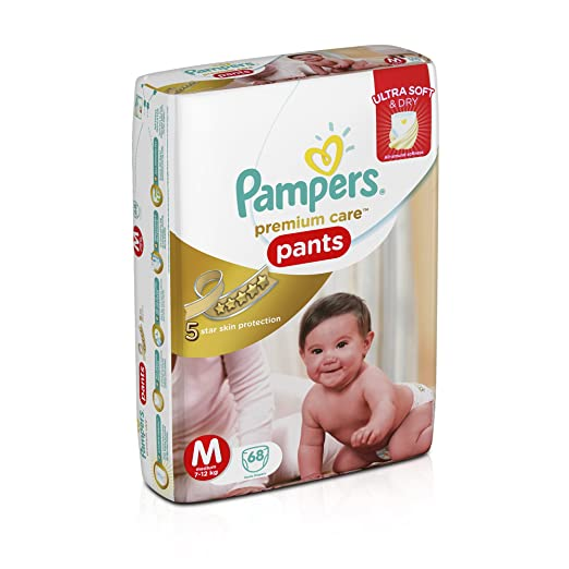 Pampers Premium Care Medium Size Diaper Pants (68 Count)