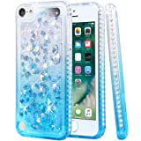 Flocute iPod Touch 5 6 7 Case, iPod Touch 5 6 7 Glitter Case Gradient Bling Sparkle Floating Liquid Soft TPU Cushion Luxury Fashion Girls Women Cute Case for iPod Touch 5th 6th 7th (Clear Aqua) (Color: Clear Aqua)