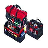 Husky 3 Bag Combo, 12 in Toolbag, 15 in Tote and BONUS Duffle Bag (Color: Red)