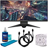 Dell Alienware LED UltraWide HD GSync Monitor (Silver) Bundle with 2X 6ft HDMI Cable, Screen Cleaner (Large Bottle) and 6-Outlet Surge Adapter with Night Light