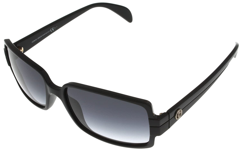 Giorgio Armani Sunglasses Women Shiny Black GA759/S D28JJ Rectangular at Sears.com