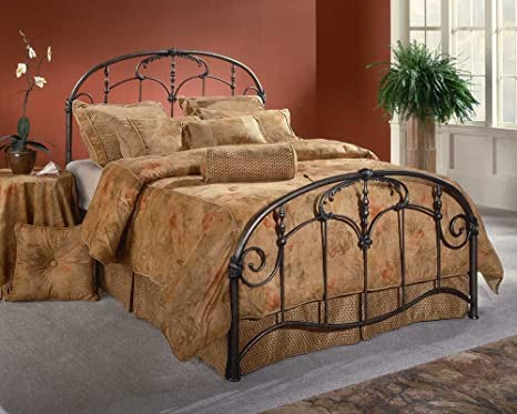 Full Jacqueline Bed by Hillsdale - Old Brushed Pewter (1293-460R)