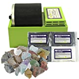 WireJewelry Single Barrel Rotary Rock Tumbler Starter Kit, Includes 1.5 Pounds of Rough Madagascar Stone Mix and a Single Batch of 4 Step Abrasive Grit and Polish (Tamaño: Starter Kit)