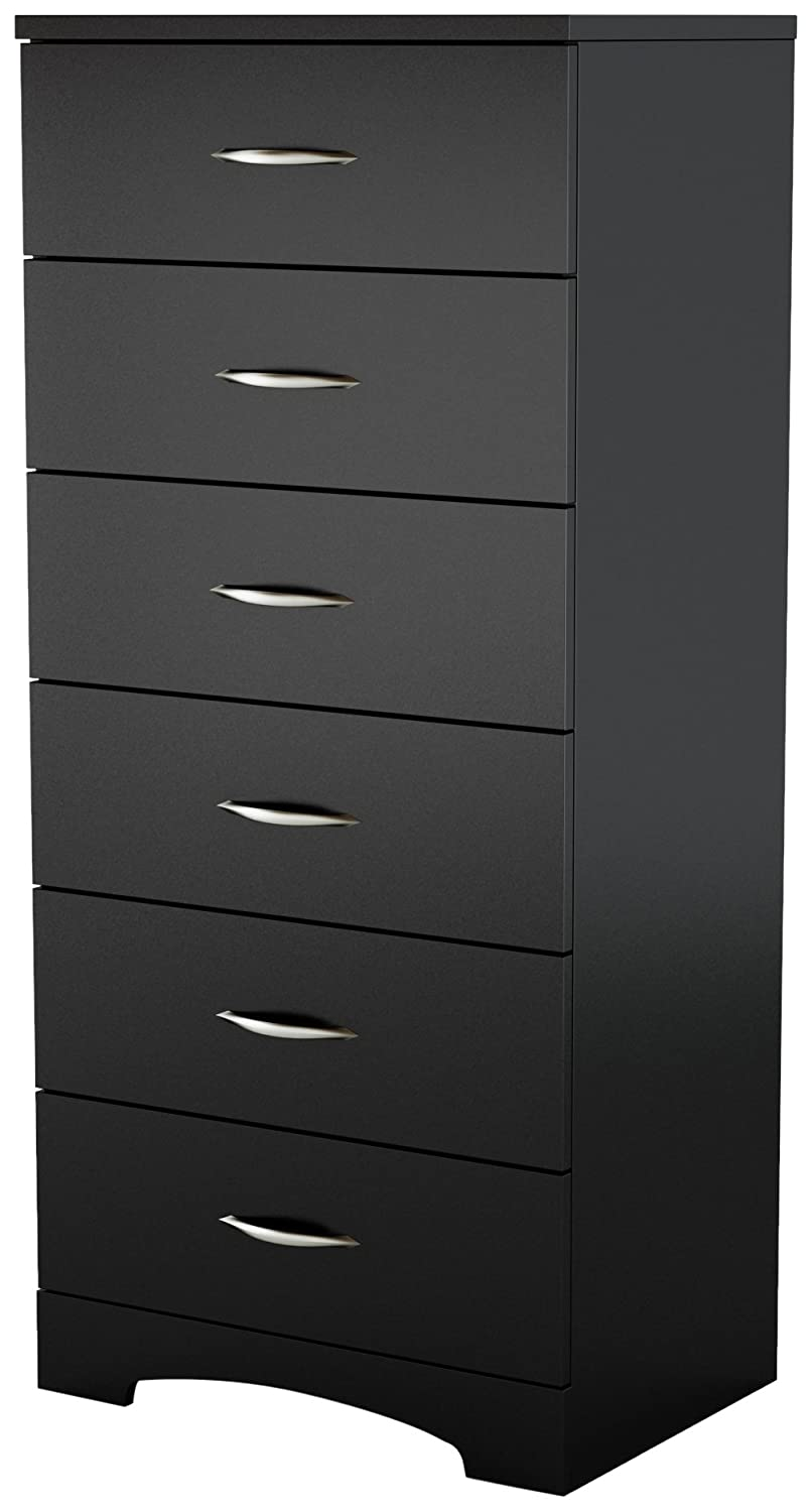 6 Drawer Chest, Pure black