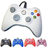 PomeMall USB Wired Game Pad Controller for Xbox 360, Windows 7 (X86), Windows 8 (X86) (White) (Color: White)