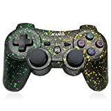 PS3 Controller Wireless Dualshock Joystick - KLNO Bluetooth Gamepad Sixaxis, Super power, USB Charger, Sixaxis, Dualshock3 including 1 cable (Spot Art Color) (Color: Spot Art Color)