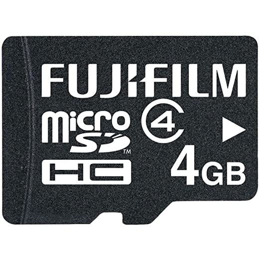 Fujifilm 4   GB microSDHC Class 4 Flash Memory Card available at Amazon for Rs.27764