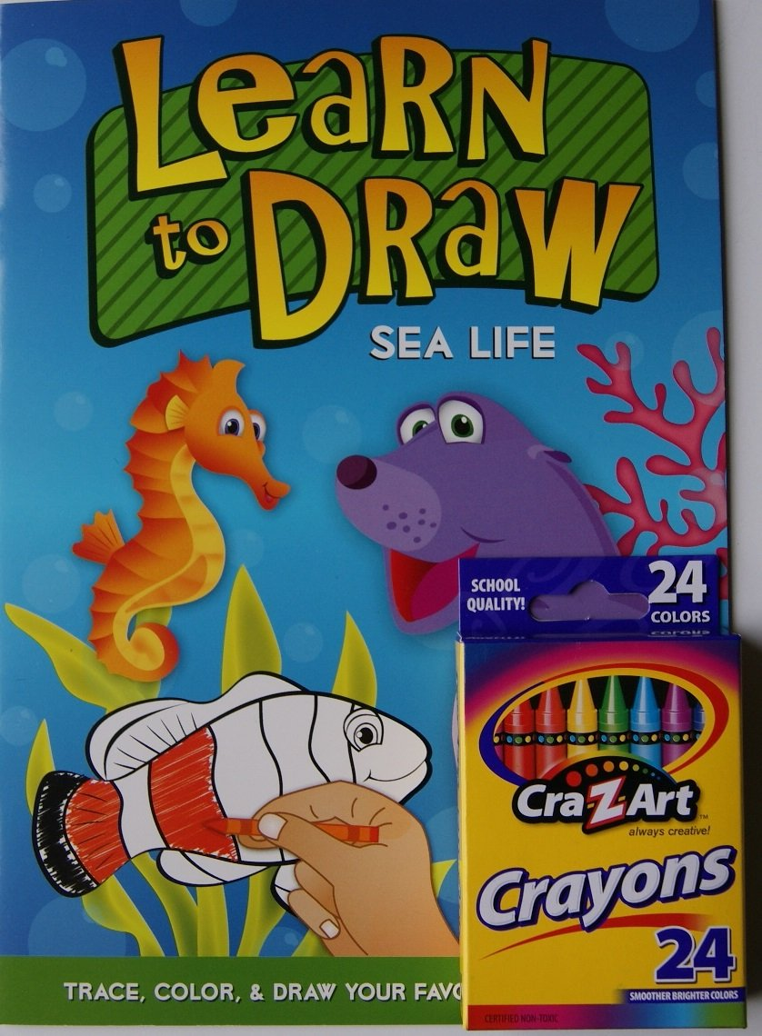 Learn to Draw Coloring Kit - Sea Life given to the sea