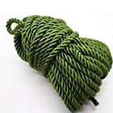 U Pick 10yds 5mm Decorative Twisted Satin Polyester Twine Cord Rope String Thread Shiny Cord Choker Thread (17:Olive Green) (Color: 17:Olive Green, Tamaño: 5mm)