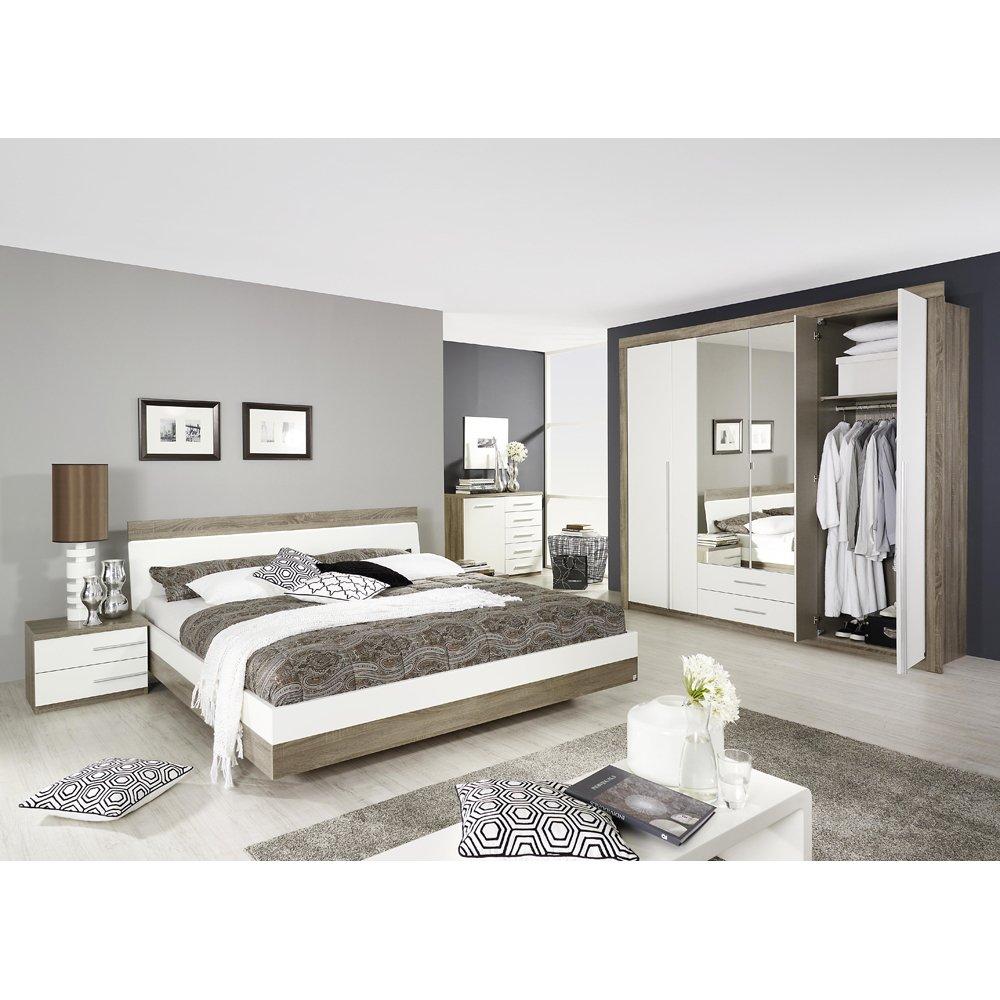 rauch Schlafzimmer Burgos 5-tlg., Eiche Havanna Dekor/weiß LIEGEFLÄCHE 180X200 CM online bestellen