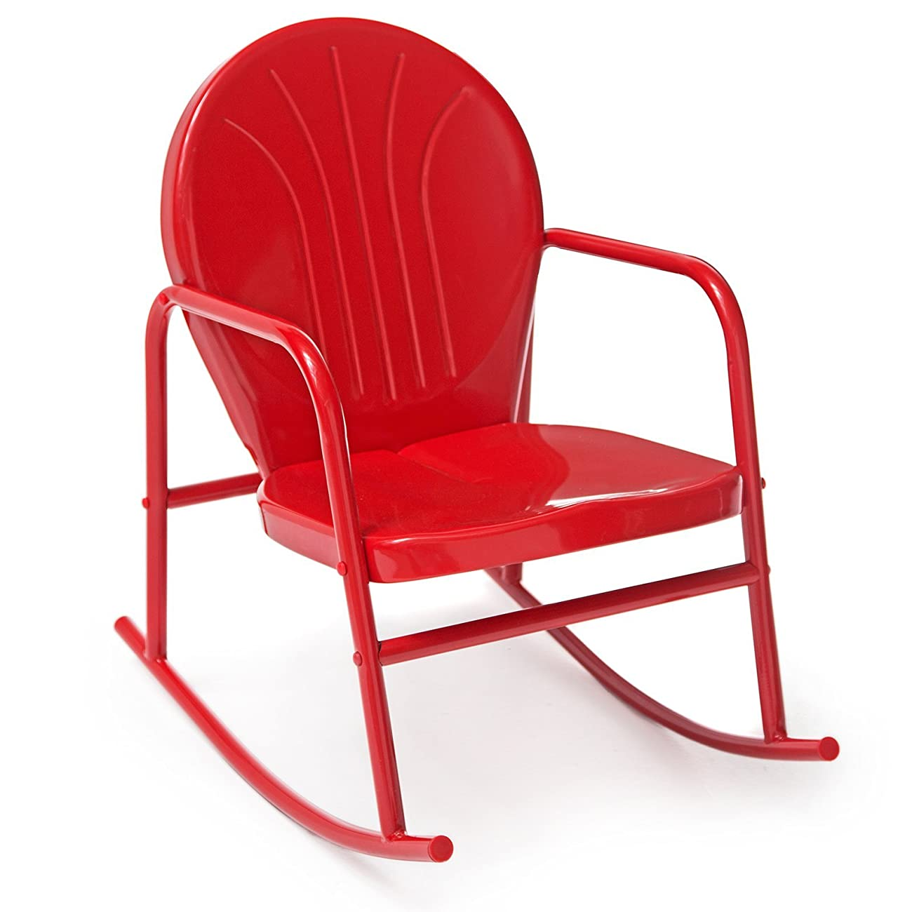 Coral Coast Vintage Retro Steel Single Rocker 0